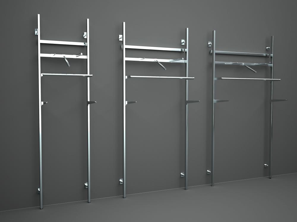 3039 arredamento appenderia struttura espositori la serie - Scaffali per cabine armadio ...