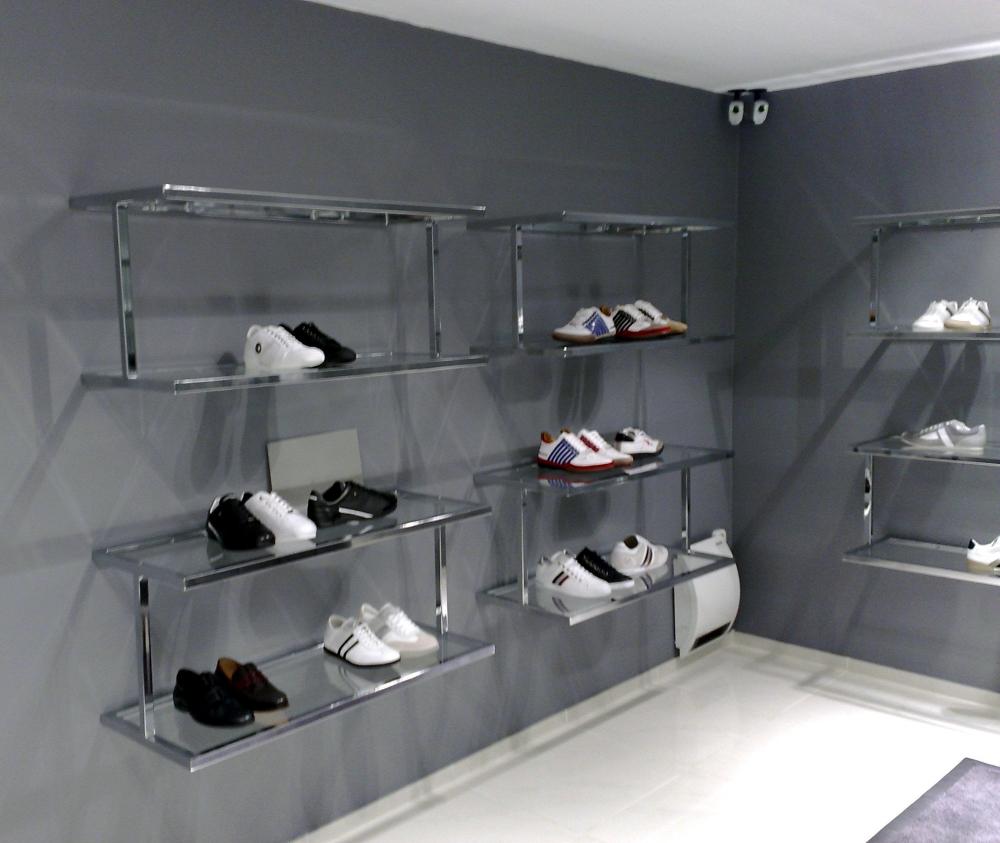 3263 arredamento negozi scarpe espositori 012 stender a for Plexiglass arredamento