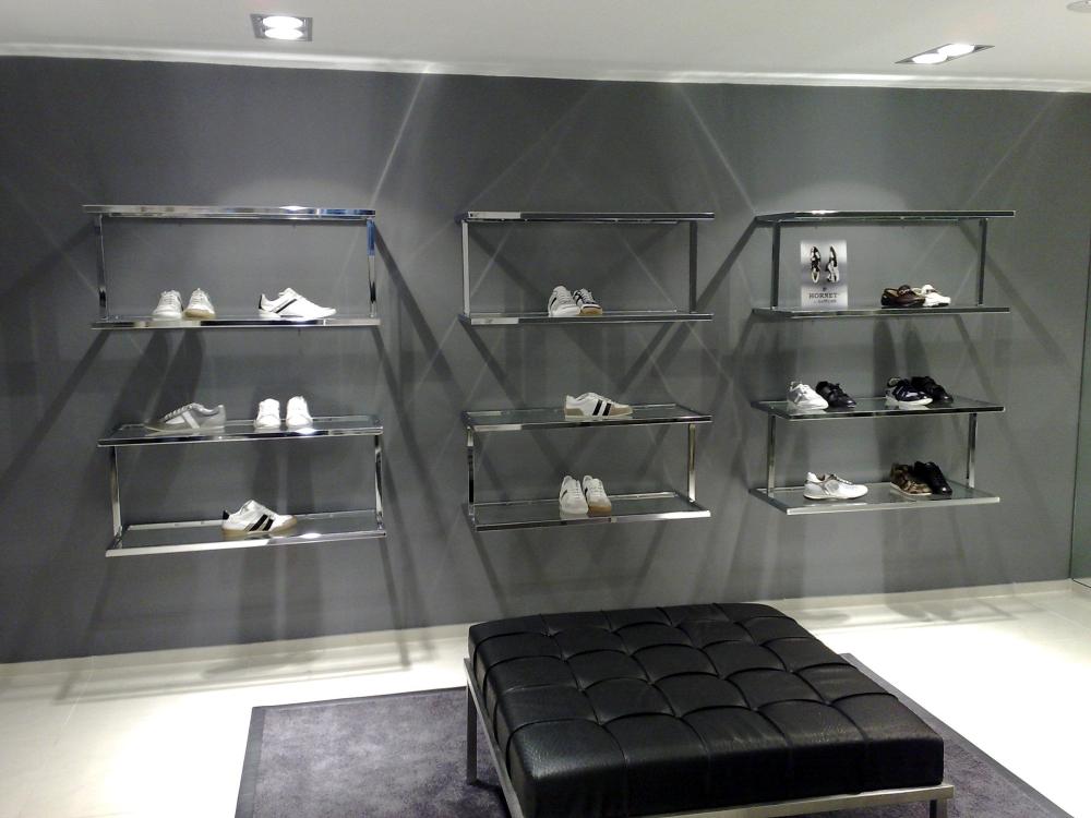 3264 arredamento negozi calzature espositori 012 stender a for Plexiglass arredamento