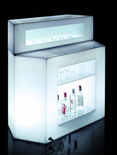 4756 bancone bar luminoso locale arredamento interno esterno for Arredamento luminoso