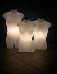 1087 uomo donna luminosi busti torso