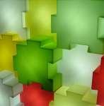 1316 puzzle particolare elementi luminosi assemblati