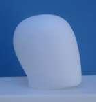 1511 testa uovo uomo precolorata espositore