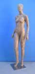 1564 base metallo manichino donna laccato testa uovo