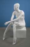 160 manichino donna seduto laccato lucido