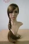162 parrucca donna testa treccia make up realistica