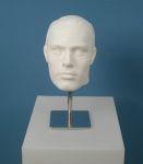 165 testa capelli scolpiti uomo base metallo display