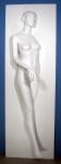 1891 cartongesso pannello raffigurante corpo femminile