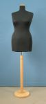 18 manichino donna sartoriale taglia xl con base tonda legno