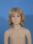 2072 viso manichino bambina con parrucca