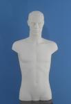 2184 bianco busto precolorato uomo testa capelli scolpiti