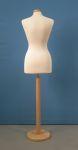 221 manichino donna per sartoria con base legno tonda