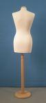231 busto per sartoria donna tonda base legno
