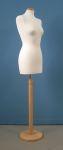 233 busto donna per sartoria completo base legno