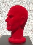 2419 uomo testa floccata per parrucche