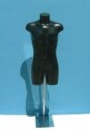2567 torso uomo senza testa precolorato base in metallo