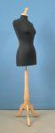 264 manichino donna base legno treppiedi tappo pomello sartoria