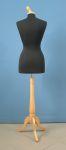267 busto per sartoria da donna base legno treppiedi tappo pomello
