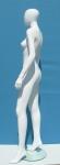 2686 manichino donna stilizzato precolorato base vetro circolare testa uovo