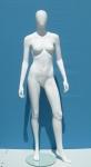 2687 manichino donna stilizzato testa uovo base vetro