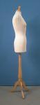 269 donna busto tappo pomello sartoriale base legno treppiedi