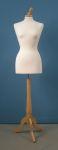 272 tappo pomello busto per sartoria donna base legno treppiedi