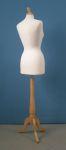 275 donna busto sartoriale base legno treppiedi tappo pomello