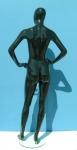 2779 manichino donna stilizzato laccato lucido testa uovo precolorato
