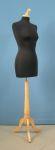 277 donna busto base legno treppiedi tappo pomello sartoria