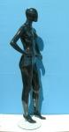 2782 manichino donna stilizzato laccato lucido precolorato testa a uovo