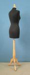 279 manichino donna tappo pomello sartoriale completo base legno treppiedi