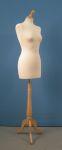 283 manichino base legno treppiedi donna tappo pomello per sartoria