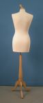 286 busto donna base legno treppiedi sartoria