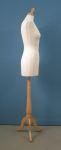 289 manichino donna base legno treppiedi tappo pomello sartoriale