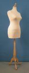 296 manichino tappo pomello donna base legno treppiedi misura xl