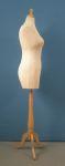 297 manichino sartoriale donna per negozi taglie comode base legno treppiedi