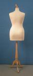299 donna manichino xl per sartoria base legno treppiedi tappo pomello