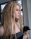 3059 arredamento realistico donna parrucca dreadlock