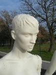 3066 manichino donna testa capelli scolpiti economico colorato
