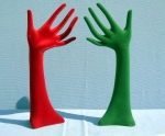 3091 mani floccate in plastica per bigiotteria