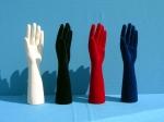 3102 mani uomo floccate in plastica esporre per biggiotteria