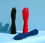 3103 mani uomo floccate in plastica per oreficeria