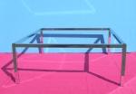 3128 struttura tavolo panca metallo