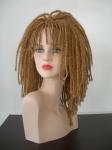 3150 testa donna con parrucca rasta bionda