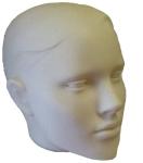 3258 testa capelli scolpiti donna