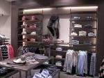 3287 abbigliamento arredamento negozi display gambe appendiabiti ripiani espositori tavolo