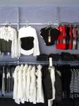 3288 abbigliamento arredamento negozi appendiabiti ripiani struttura espositori