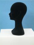 3496 testa donna floccata nera portaparrucche portacappelli