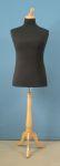 35 base legno treppiedi tappo pomello misura xl manichino uomo per sartoria