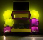 3606 espositore puzzle doppio ripiano display arredamento